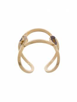 Delfina Delettrez кольцо с декором в виде глаза и губ EAR1001A