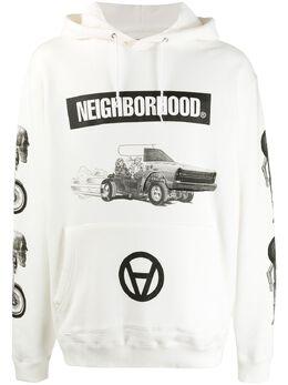 Neighborhood толстовка Example с капюшоном и логотипом 201MBKSNCSM01S