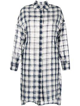 Gentry Portofino клетчатая рубашка оверсайз D200RO
