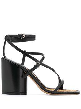 Salvatore Ferragamo босоножки на скульптурном каблуке с ремешками 730549