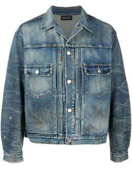 John Elliott джинсовая куртка с длинными рукавами и эффектом потертости G289E81475L
