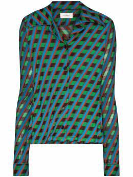 Wales Bonner рубашка Mambo с геометричным принтом WS20SH01JER540B1750GEOMETRICJERSEY