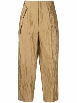 Gentry Portofino укороченные брюки с жатым эффектом D315MA