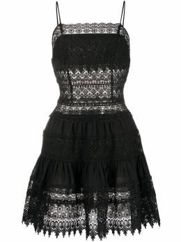 Charo Ruiz Ibiza платье-трапеция мини с вышивкой 201606