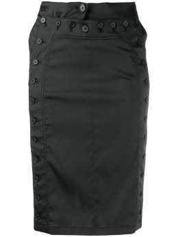 Ann Demeulemeester юбка узкого кроя с пуговицами 20011640161099