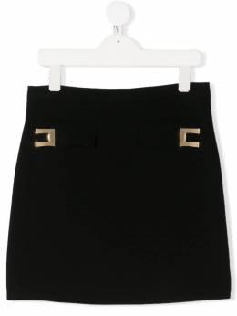 Elisabetta Franchi La Mia Bambina декорированная юбка мини EFGO71GA37