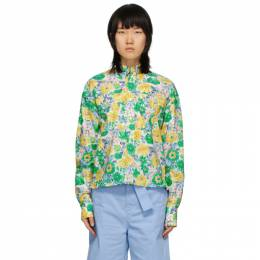 Plan C Multicolor Floral Shirt CMCAB03K00TC043