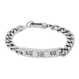 Gucci Silver Gucci Ghost Chain Bracelet 455321 J8400