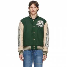 Billionaire Boys Club Green Astro Varsity Jacket B20227