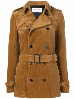 Saint Laurent corduroy trench coat 506652Y107T