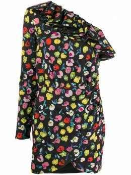 Amen платье асимметричного кроя с абстрактным принтом AMS20453