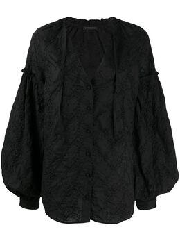 Wandering блузка с объемными рукавами и цветочной вышивкой WGS20256