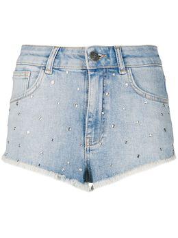 Twin-Set джинсовые шорты с заклепками 201TP2571