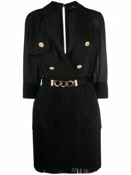 Elisabetta Franchi платье мини с бахромой AB23601E2