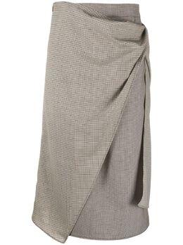 Ports 1961 юбка прямого кроя с клетчатой вставкой PW419XXK52FWOC022