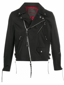 Fumito Ganryu байкерская куртка с молниями на манжетах FU3BL02
