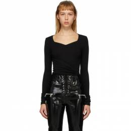 Unravel Black Front Cross Bodysuit UWDD046S20JER0011000