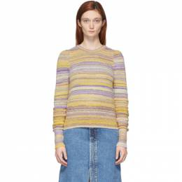 Marc Jacobs Purple and Yellow Lurex Striped Sweater K6000027