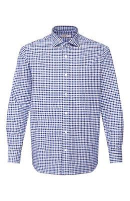Рубашка из смеси хлопка и льна Luciano Barbera 105489/60062