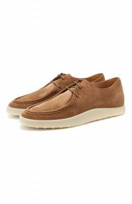 Замшевые ботинки Tod's XXM52B0CM10RE0