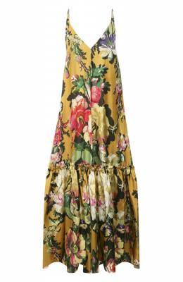Платье из вискозы Dries Van Noten 201-11052-9436