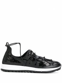 Jimmy Choo кроссовки с пайетками на шнуровке 'Andrea' ANDREATQS