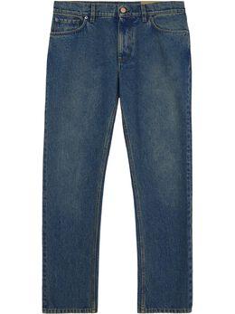 Burberry джинсы прямого кроя с эффектом потертости 8019827
