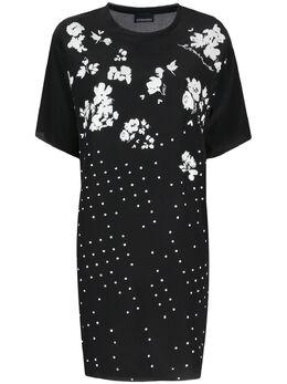 Ermanno Ermanno Scervino платье в горох с цветочным принтом 46TAB74CDC