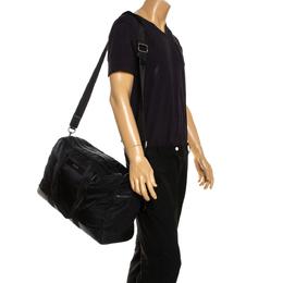 Dolce&Gabbana Black Nylon and Leather Weekender Luggage Bag 287636