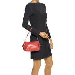 Miu Miu Peach Vitello Lux Leather Pochette Bag 287620