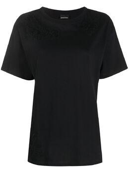Ermanno Ermanno Scervino футболка с кружевной вышивкой 46TTS15JCO