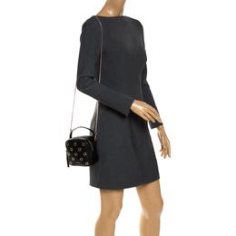 Furla Black Leather Eyelet Crossbody Bag 287729