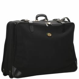 Burberry Black Nylon Leather Travel Bag 287047