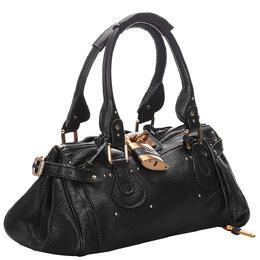 Chloe Black Leather Paddington Bag 285356