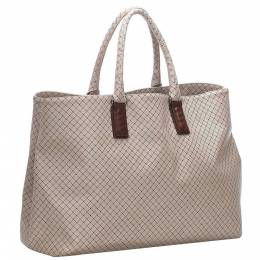 Bottega Veneta Brown/Beige Canvas Marco Polo Tote Bag 286986
