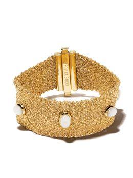 Carolina Bucci золотой браслет XVIII с жемчугом CBSY