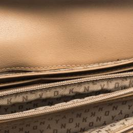DKNY Brown Coated Canvas Continental Wallet 287590