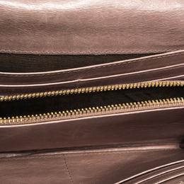 Miu Miu Old Rose Matelasse Leather Continental Wallet 287578