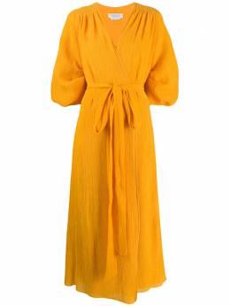 Gabriela Hearst платье миди с запахом 220407T025