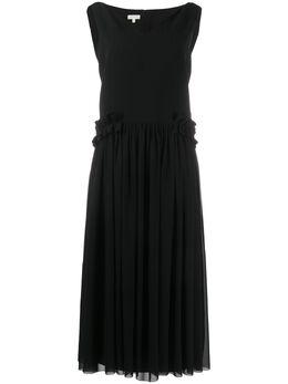 Delpozo платье-трапеция с V-образным вырезом 4200601004