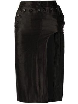 Ann Demeulemeester юбка с вырезами 20011642174