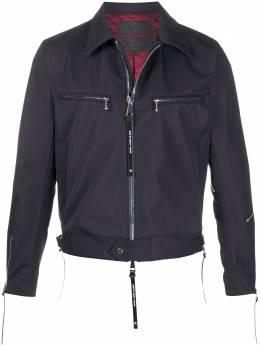 Fumito Ganryu короткая куртка на молнии с карманами FU3BL04