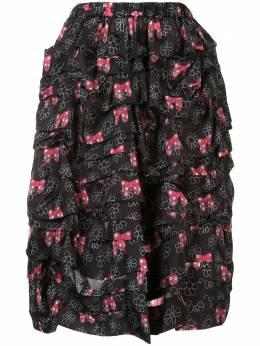 Comme Des Garcons Girl юбка с принтом NES008S20