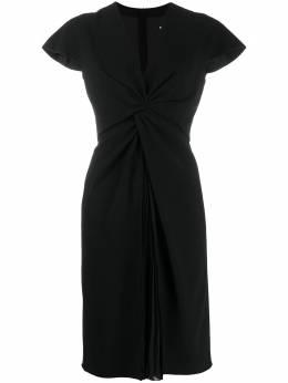 Paule Ka короткое платье с перекрученной деталью 180R79