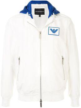 Emporio Armani куртка в стиле колор-блок с логотипом 3H1BA61NLAZ