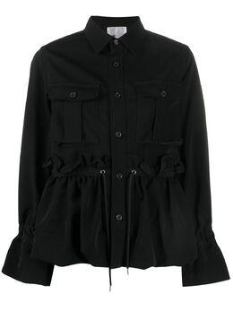 Comme Des Garcons Noir Kei Ninomiya куртка на пуговицах с кулиской 3EJ032051