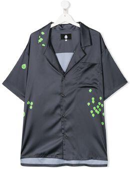 Natasha Zinko Kids рубашка с карманом и принтом DUO20105IYT
