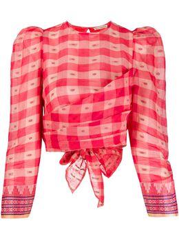 Ulla Johnson блузка Eden в клетку SP200247
