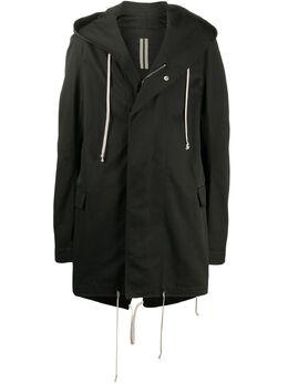 Rick Owens DRKSHDW пальто с капюшоном и графичным принтом DU20S5968CTEP1