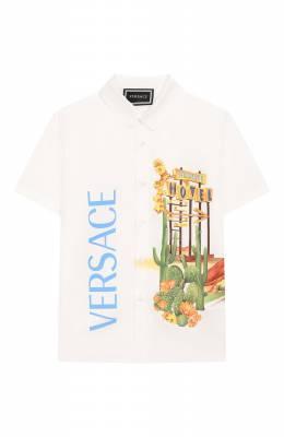 Хлопковая рубашка Versace YB000113/A230231